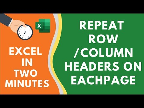 Repeat ROW and COLUMN Headers on Each page in Excel thumbnail