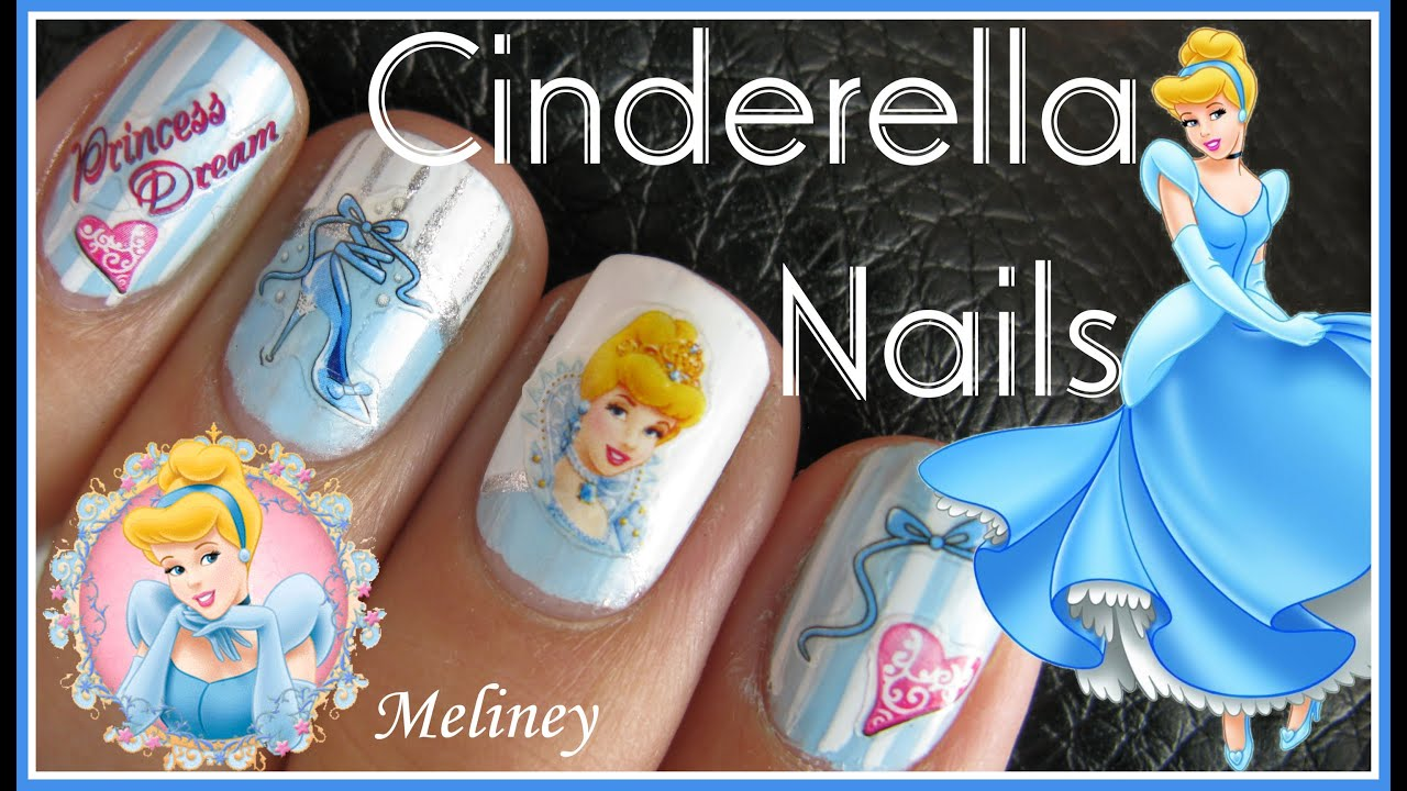 CINDERELLA NAILS | DISNEY PRINCESS CARTOON NAIL ART DESIGN STICKER ...