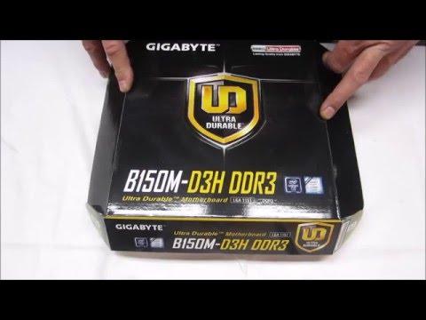 Gigabyt B150M-D3H DDR3 Skylake i3 6320 Silent PC