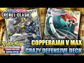 COPPERAJAH V MAX  IS SUCH A TANK! - Rebel Clash Deck (Pokemon TCG)