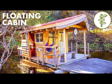 Floating Tiny Cabin is Perfect for Glamping on the Water