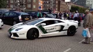 Dubai Police Lamborghini Aventador, Insane Revving!! -HD