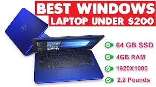 Best Laptops Under $200 [New,Windows,SSD, 4GB RAM]