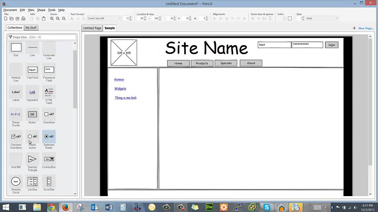 Wireframing Using Pencil Youtube