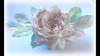 МК Эксклюзивное украшение из фоамирана. Цветы из фоамирана