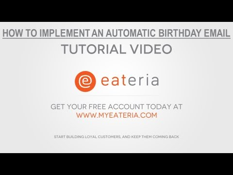 How to create an automatic birthday club for your restaurant or bar marketing
