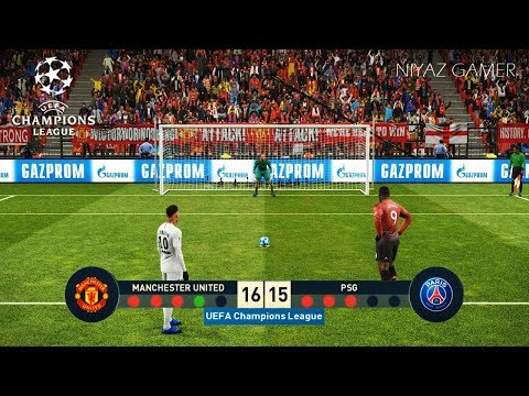 MANCHESTER UNITED vs PSG | UEFA Champions League - UCL | Penalty Shootout | PES 2019