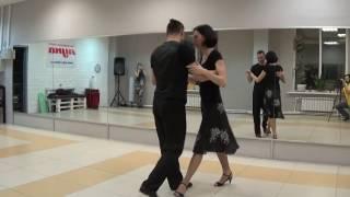 Аргентинское танго в Пензе. Илья и Ирина. Уроки 09/03/17. ТС