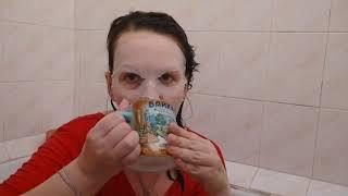 Ванная отмакаю и пью молоко и #кофе #карантин #уходзакожейлицассоветовой #карантинМосква маска