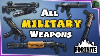 Fortnite - Military Weapons Preview