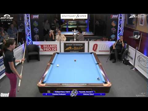 Stuttgart Open 2013, 13 Sandra Hofmann vs Simone Künzl, 10-Ball, Pool-Billard, Cue Sports