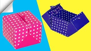 How to make origami paper box of 1 sheet of paper | DIY paper box | Easy Paper Crafts