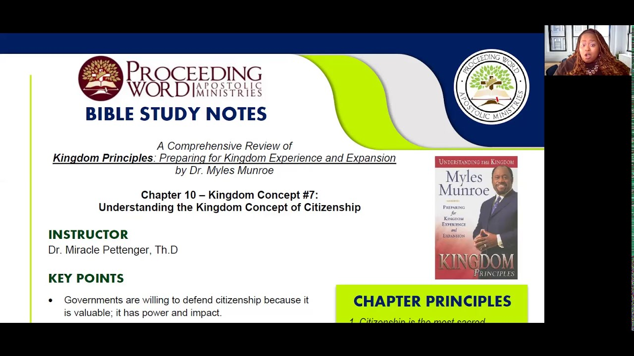 2021_0121 PWAM Bible Study: Kingdom Principles - Chapter 10 -  KINGDOM CITIZENSHIP