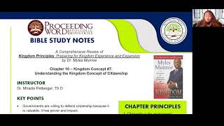 2021_0121 PWAM Bible Study: Kingdom Principles - Chapter 10 -  KINGDOM CITIZENSHIP