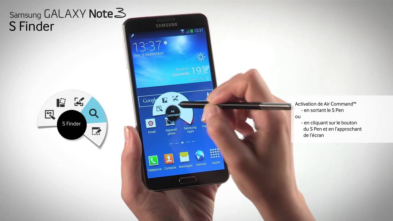 Tutoriel Prise En Main Du Samsung Galaxy Note 3 S Finder Youtube
