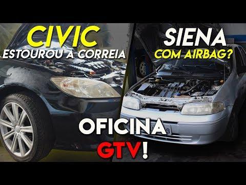 CIVIC COM PROBLEMAS + SIENA COM AIR BAG? OFICINA GTV #5