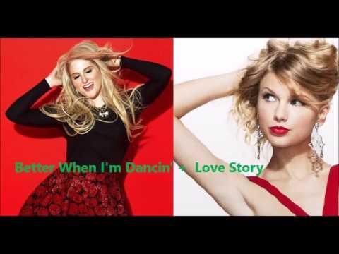 Meghan Trainor vs. Taylor Swift - Better When I'm Dancin' + Love Story Mashup