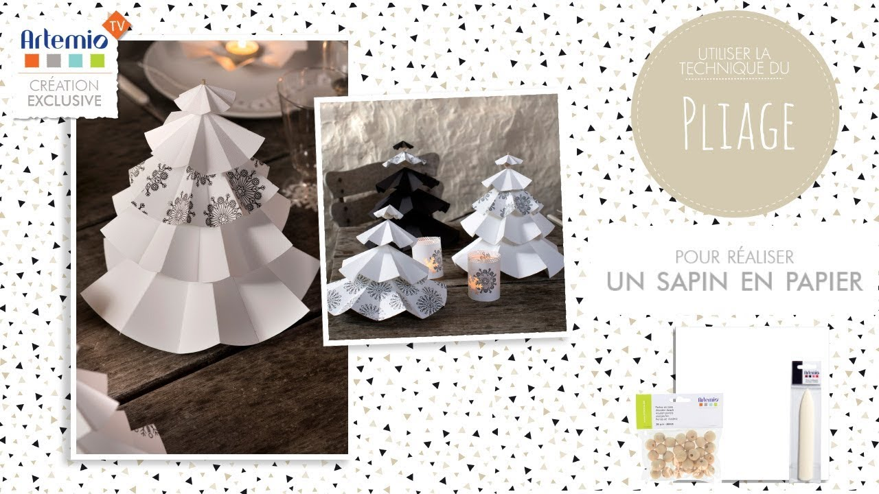 tuto] décoration noël : réaliser des sapins en papier - youtube