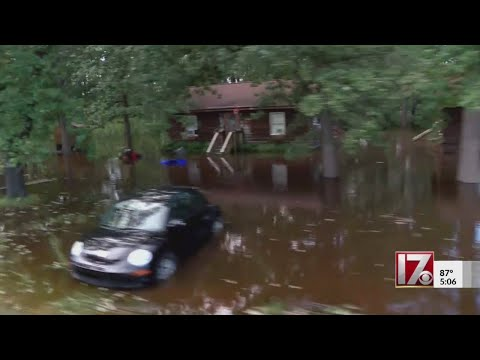 CBS 17 documents devastating floods in Spring Lake