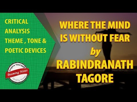 Analysis of Where The Mind Is Without Fear by Rabindranath Tagore