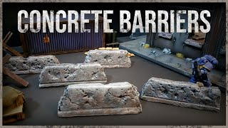 Miniature Concrete Barriers - Building Easy Miniature Wargaming Terrain for your Tabletop Games.