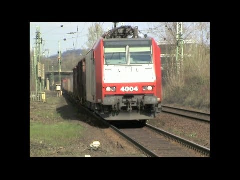 Trains at the station Bonn - Oberkassel on the right Rhine line
