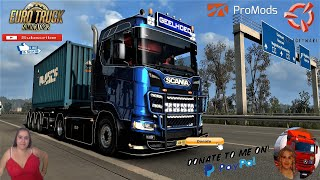 """Euro Truck Simulator 2 (1.39)   Geelhoed Scania S450 + Ownable Container Trailer by OveRTRucK """"Best Truck"""" Road to Berlin Germany Promodsmap v2.51 Animated gates in companies v3.7 [Schumi] Real Company Logo v1.0 [Schumi] Company addon v1.8 [Schumi] Trailers and Cargo Pack by Jazzycat Motorcycle Traffic Pack by Jazzycat FMOD ON and Open Windows Naturalux Graphics and Weather Spring Graphics/Weather v3.6 (1.38) by Grimes Test Gameplay ITA Europe Reskin v1.0 + DLC's & Mods Author: OveRTRucK Discounted price: 12 euros *Until Christmas. Payment: paypal.me/overtruck Contact: Gmail overtruckm@gmail.com Facebook https://www.facebook.com/OveRTRucKing...? Truck and trailer Optimized mod 1.39 ready  For Donation and Support my Channel https://paypal.me/isabellavanelli?loc...  SCS Software News Iberian Peninsula Spain and Portugal Map DLC Planner...2020 https://www.youtube.com/watch?v=NtKeP... Euro Truck Simulator 2 Iveco S-Way 2020 https://www.youtube.com/watch?v=980Xd... Euro Truck Simulator 2 MAN TGX 2020 v0.5 by HBB Store https://www.youtube.com/watch?v=HTd79...  All my mods I use in the video Promods map v2.51 https://www.promods.net/setup.php Traffic mods by Jazzycat https://sharemods.com/hh8z6h9ym82b/pa... https://sharemods.com/lpqs4mjuw3h6/ai... https://ets2.lt/en/painted-bdf-traffi... https://sharemods.com/eehcavh87tz9/bu... Graphics mods https://download.nlmod.net/ https://grimesmods.wordpress.com/2017... Europe Reskin https://forum.scssoft.com/viewtopic.p... Trailers pack https://ets2.lt/en/trailers-and-cargo... https://tzexpress.cz/ Others mods Company addon v1.8 [Schumi] https://forum.scssoft.com/viewtopic.p... Real Company Logo v1.3 [Schumi] https://forum.scssoft.com/viewtopic.p... Animated gates in companies v3.8 [Schumi https://forum.scssoft.com/viewtopic.p...  #TruckAtHome #covid19italia Euro Truck Simulator 2    Road to the Black Sea (DLC)    Beyond the Baltic Sea (DLC)   Vive la France (DLC)    Scandinavia (DLC)    Bella Italia (DLC)   Special Transport (DLC)"""