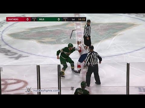 Micheal Haley vs Marcus Foligno Jan 2, 2018