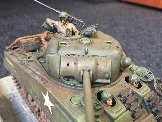 Výroba dioráma pro tank SHERMAN