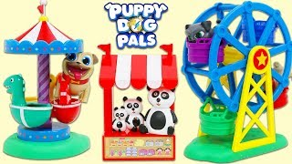 Disney Jr Puppy Dog Pals Bingo and Rolly Go to the Carnival & Find Surprise Toys!