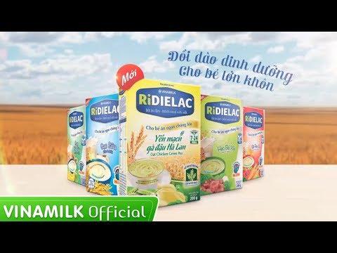 Quảng cáo Vinamilk - Bột ăn dặm Yến mạch gà đậu Hà Lan Ridielac 2014