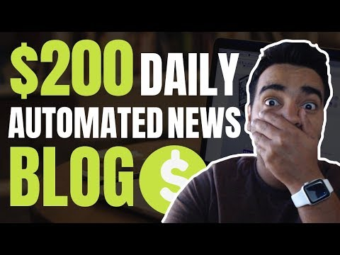 How To Make Money With A Wordpress Automated News Blog | $200 Per Day Method