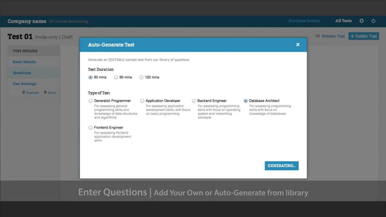 Create Test | HackerEarth Recruit
