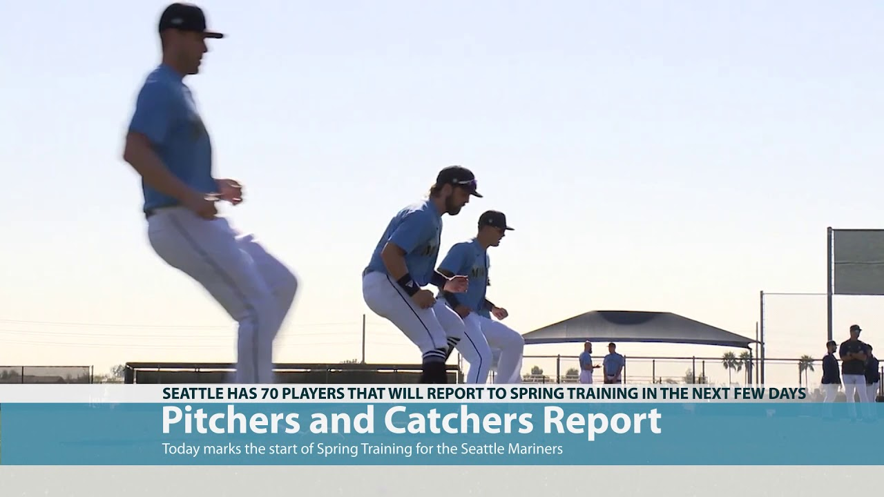 bRoll of Mariners Reporting to Training Camp 2021-02-18