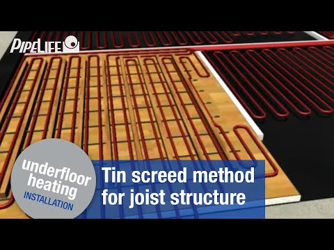 Pipelife Underfloor Heating - Installation: tin screed method for joist structure