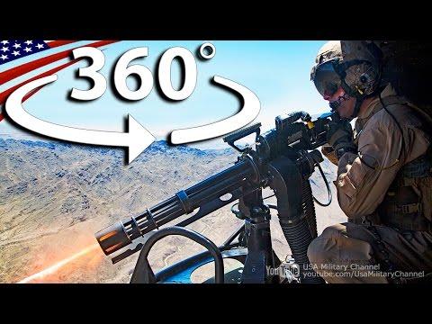 【360度】UH-1ヘリコプターのドアガンナーの360度VR動画