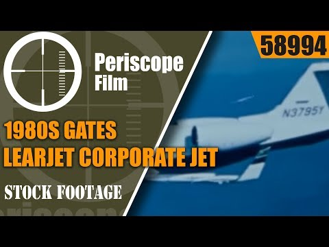 1980s GATES LEARJET CORPORATE JET PROMOTIONAL FILM 58994