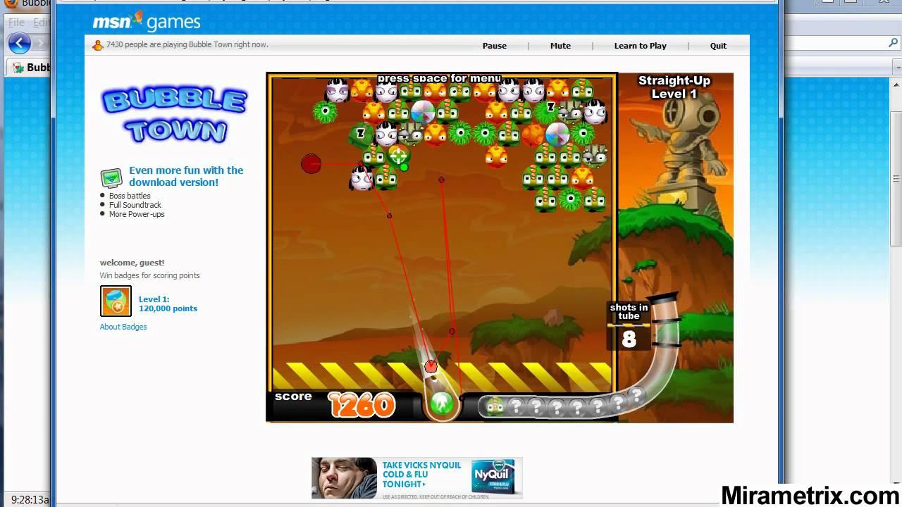 msn free online games bubble town