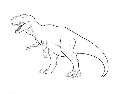 How to Draw a Tyrannosaurus / Как нарисовать тиранозавра