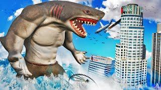 Becoming a HUMAN SHARK In GTA 5 (Shark Attack)