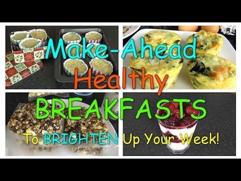 Make-Ahead Healthy BREAKFASTS! (Weight Loss Recipes)