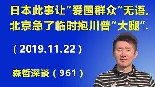 """日本这件事让""""爱国群众""""无语,北京急了临时抱川普的""""大腿"""".(2019.11.22)"""
