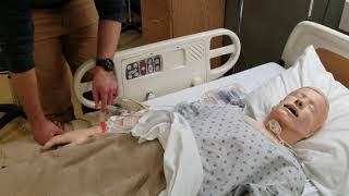 Syringe pump infusion