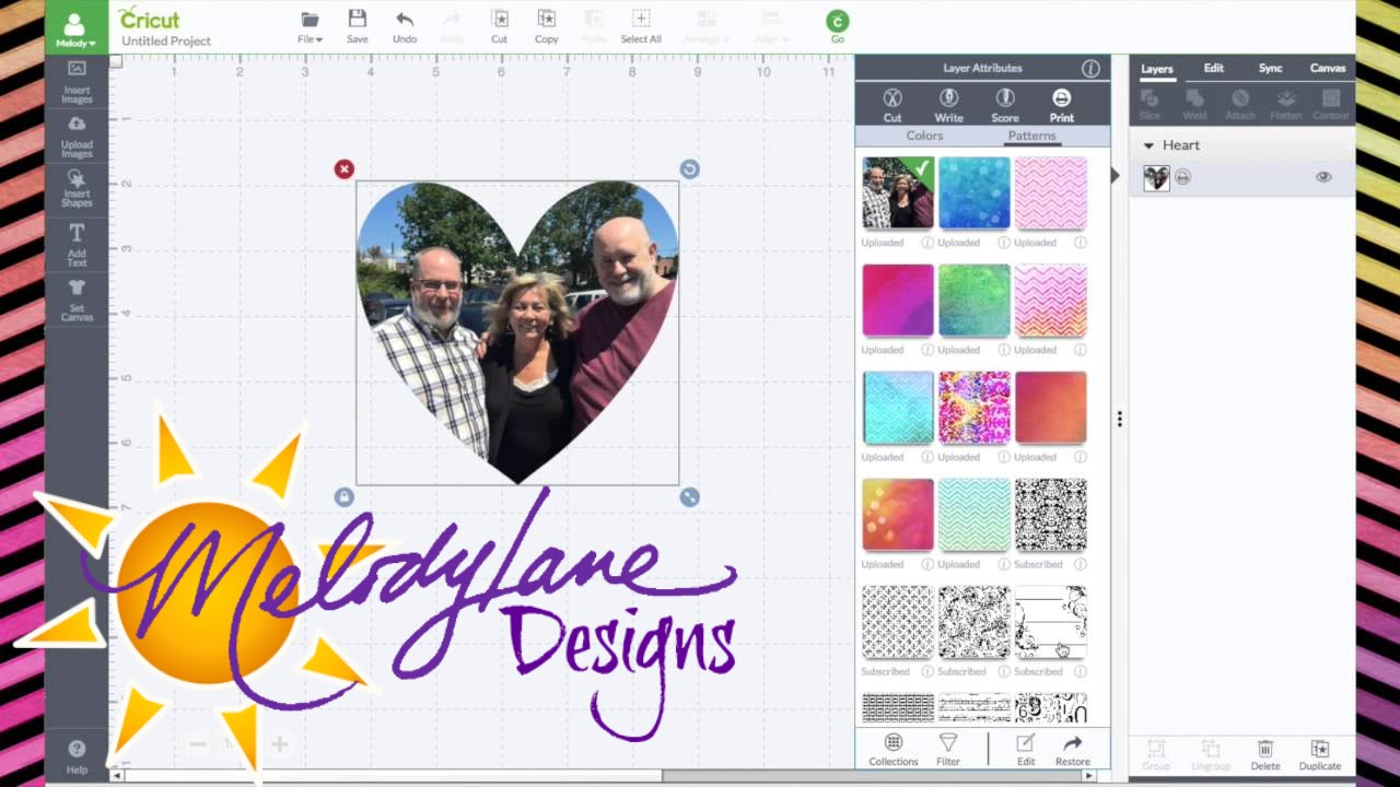Uploading Photos & Editing Patterns in Cricut Design Space - Beta preview