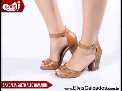 d188b5ff6 Sandália Salto Alto Ramarim Total Comfort 14-73203 - YouTube