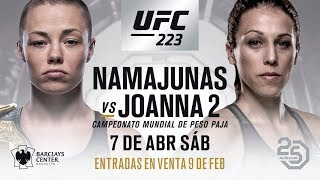 Thug Rose Namajunas vs Joanna Jedrzejczyk2  at UFC 223 - Preview & Free Pick