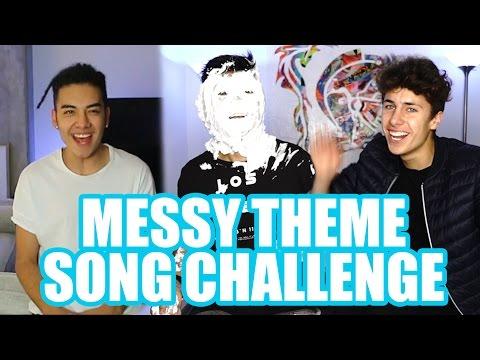 MESSY THEME SONG CHALLENGE ft. Mario Ruiz y Saak / Juanpa Zurita