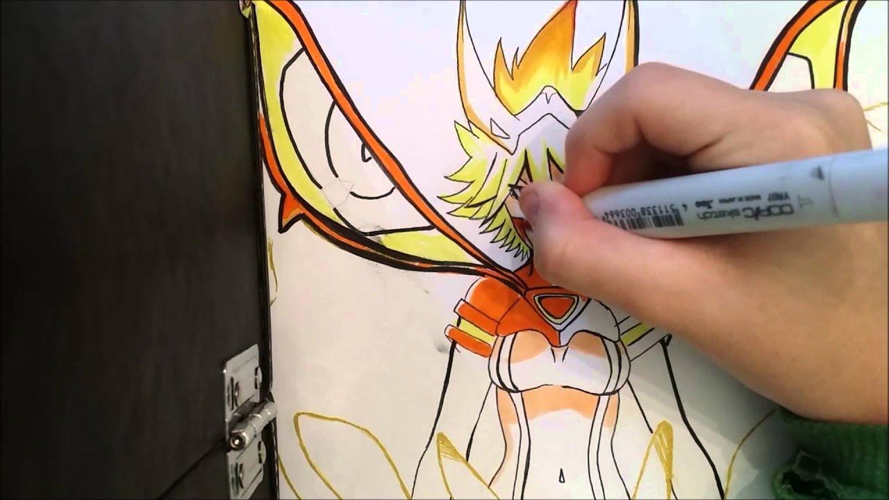 Kill la kill drawing [Ryukos final form] - YouTube