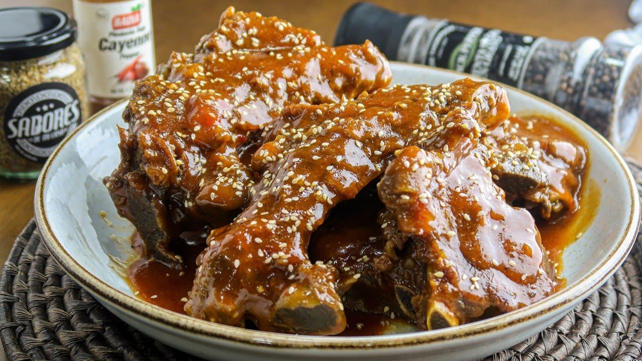 COSTILLAS EN SALSA BBQ SIN HORNO - RECETA FACIL