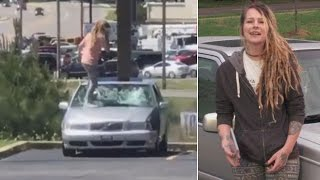 Woman Ruins Friend's Car By Stomping On It Over a John Mayer CD